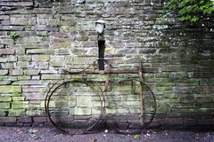 Bicicleta velha do ferro Foto de Stock Royalty Free