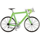 Bicicleta verde Foto de archivo libre de regalías