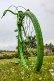 Bicicleta verde velha Imagens de Stock Royalty Free