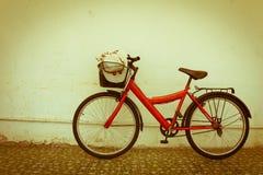 Bicicleta vermelha Fotos de Stock Royalty Free