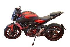 A bicicleta vermelha Foto de Stock