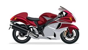 Bicicleta vermelha do motor Imagem de Stock Royalty Free