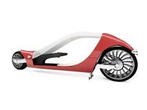 Bicicleta vermelha futura vista isolada Imagem de Stock