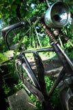 Bicicleta vieja de los granjeros fotografía de archivo