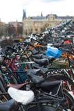 Bicicletas Amsterdão Imagens de Stock