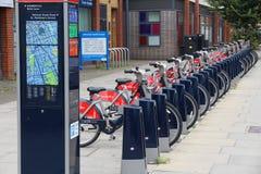 Bicicletas da cidade de Londres Imagens de Stock Royalty Free
