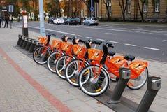 Bicicletas da cidade para o aluguel Fotos de Stock Royalty Free