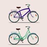 Bicicletas 2 da cor Ilustração Stock