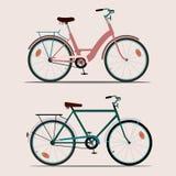 Bicicletas da cor Ilustração Royalty Free