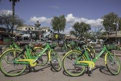 Bicicletas de alquiler de la comunidad en Scottsdale Arizona Fotografía de archivo libre de regalías