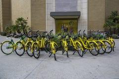 Bicicletas de alquiler de la comunidad en Scottsdale Arizona Foto de archivo libre de regalías