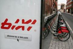 Bicicletas de Bixi Imagens de Stock