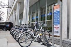 Bicicletas de Detroit Zagster Foto de Stock Royalty Free