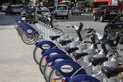 Bicicletas de la ciudad - Valencia Imágenes de archivo libres de regalías