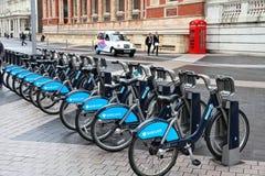 Bicicletas de Londres Foto de archivo libre de regalías