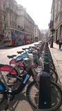 Bicicletas de Londres Fotografia de Stock