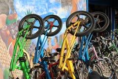 Bicicletas derechas Foto de archivo libre de regalías