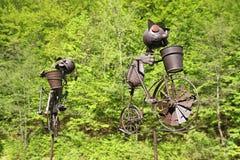 Bicicletas divertidas del hierro Fotografía de archivo libre de regalías