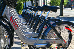 Bicicletas do bixi de Montreal Imagem de Stock