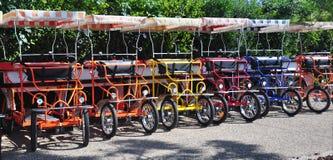 Bicicletas do Fourseater para o aluguel Imagens de Stock Royalty Free