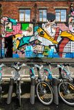 Bicicletas e arte Imagens de Stock Royalty Free