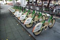 Bicicletas em Banguecoque imagens de stock royalty free