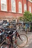 Bicicletas em Harvard Fotografia de Stock