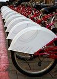 Bicicletas em uma fileira Fotos de Stock Royalty Free