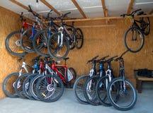 Bicicletas en el alquiler de Alushta Foto de archivo