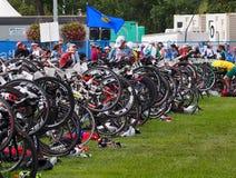 Bicicletas en el Triathlon Fotografía de archivo libre de regalías