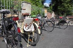 Bicicletas en la ciudad de Munster, Alemania Foto de archivo libre de regalías