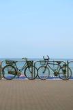 Bicicletas en la 'promenade' Fotos de archivo libres de regalías