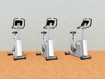 Bicicletas estáticas Imagenes de archivo