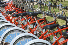 Bicicletas estacionadas Imagens de Stock