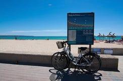Bicicletas estacionadas Playa de Palma Foto de Stock Royalty Free