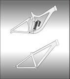 Bicicletas estilizados Fotografia de Stock