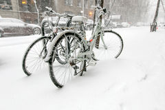 Bicicletas Nevado Fotografía de archivo libre de regalías