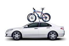 Bicicletas no carro Imagem de Stock Royalty Free