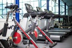 Bicicletas no gym Foto de Stock