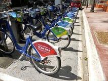 Bicicletas olímpicas 2016 dos EUA da equipe Foto de Stock