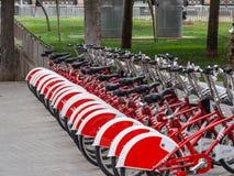 Bicicletas públicas fotografia de stock