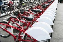 Bicicletas públicas Fotografia de Stock Royalty Free