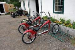 Bicicletas para el alquiler en el parque del waterton Imagen de archivo