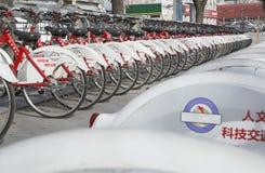 Bicicletas públicas Fotos de archivo