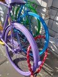 Bicicletas pintadas Fotos de archivo libres de regalías