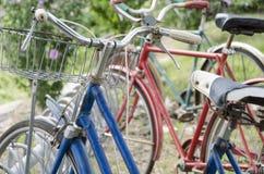 Bicicletas retros do vintage do passado Imagens de Stock Royalty Free