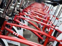 Bicicletas rojas fotos de archivo libres de regalías