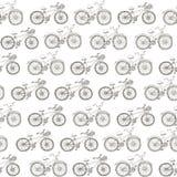 Bicicletas sem emenda do desenho do teste padrão Imagens de Stock
