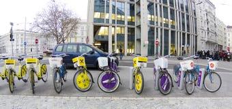 Bicicletas, Viena, Austria Fotos de archivo libres de regalías