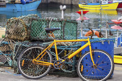 Bicicletta al porto di Fraserborough Immagine Stock Libera da Diritti